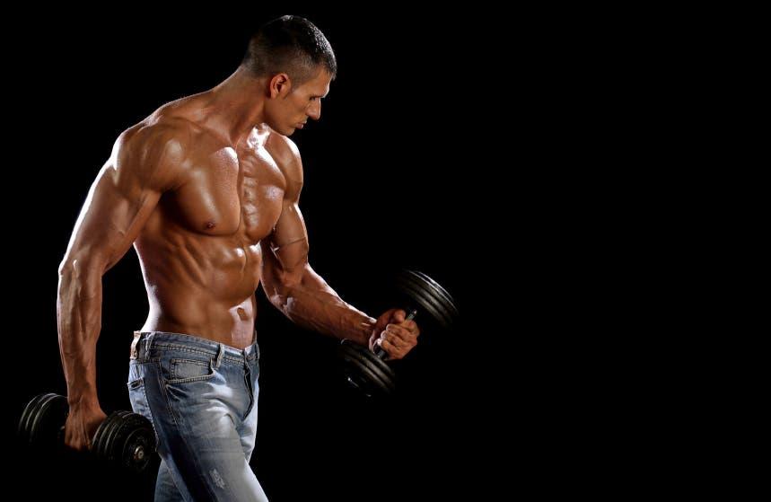 La testosterona para el crecimiento muscular en
