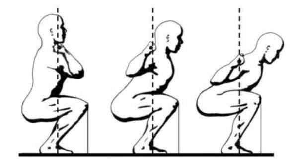 sentadilla frontal trasera