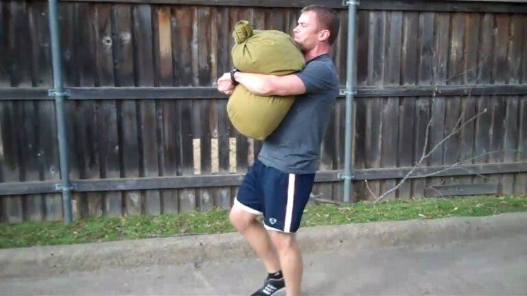 sandbag bear hug
