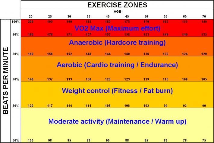 zonas de entrenamiento