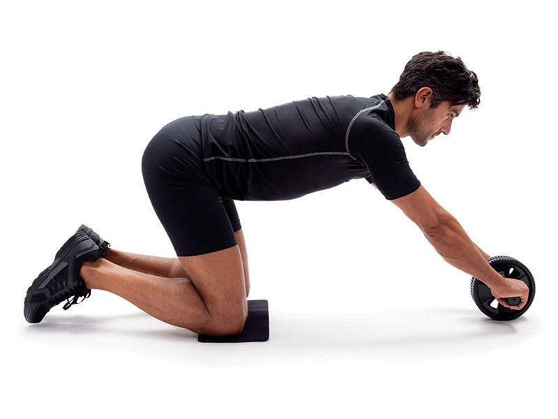 Rodillo AB Rueda Doble AB Roller Rueda De Fitness Ejercicios Abdominales Equipo para M/úsculos Ejercicios Abdominales
