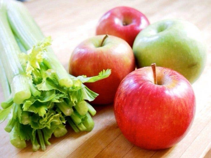 manzana y apio