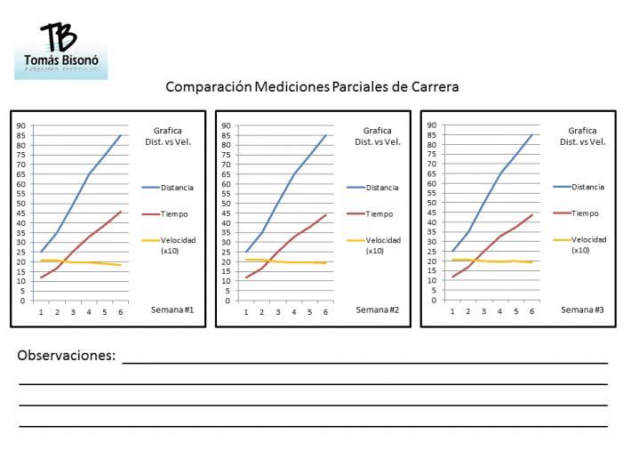 Graficas Mediciones Parciales de Carrera