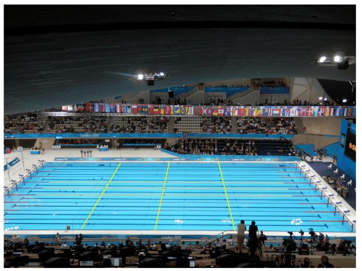 piscina seccionada