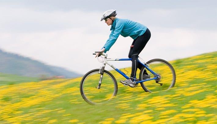 Estar cómodo sobre la bicicleta