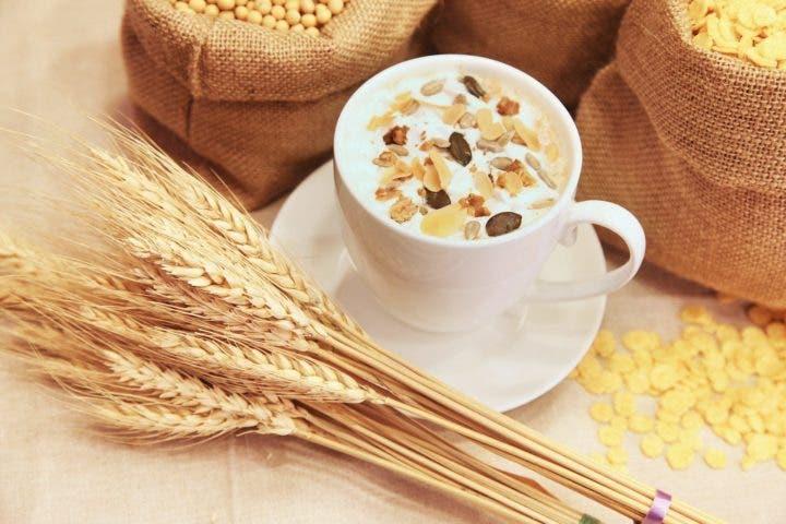 snack de leche y cereales