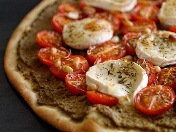 una deliciosa pizza