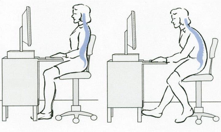 Sentarse derecho computadora