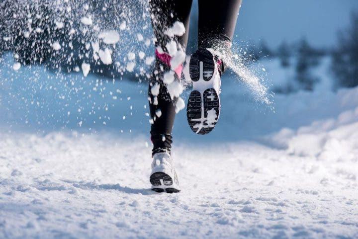 runners en el invierno