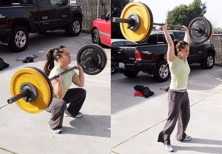 thrusters de CrossFit