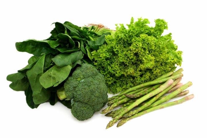 ácido fólico en verduras