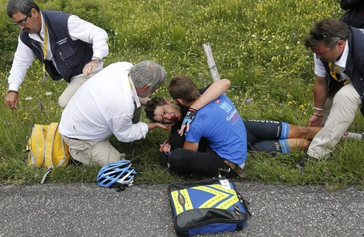 Como actuar ante accidentes de ciclismo