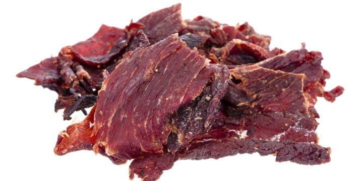 snacks de carne de vaca seca