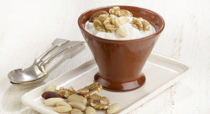 snack de yogur y almendras