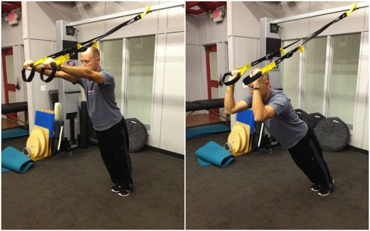 Extensión de tríceps con TRX