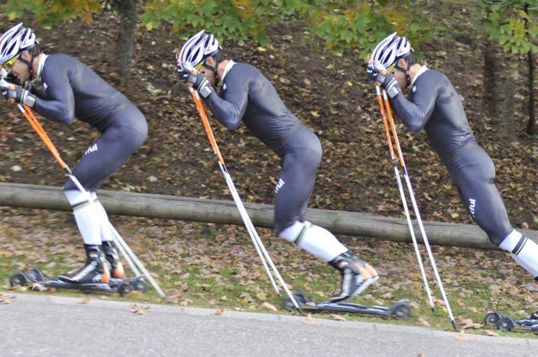 ¿cuál debe ser la longitud de los bastones de esquí de fondo?