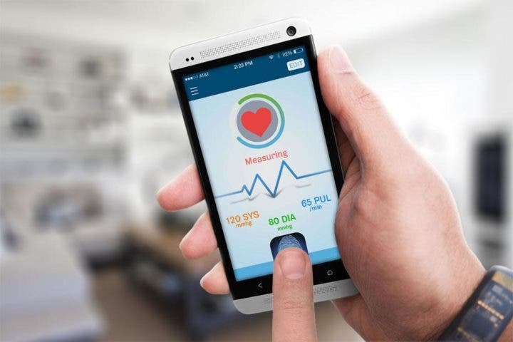 Presión arterial medida con aplicaciones