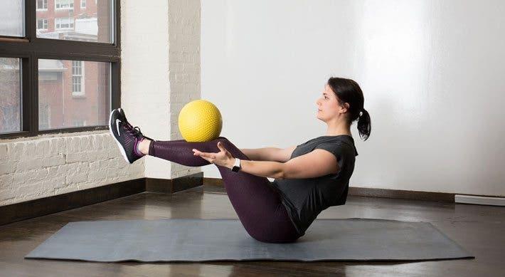 equilibrio con balón medicinal