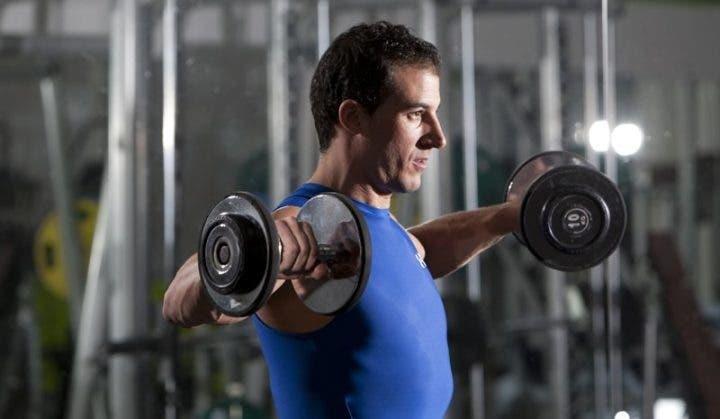 Respiración en ejercicio con pesas