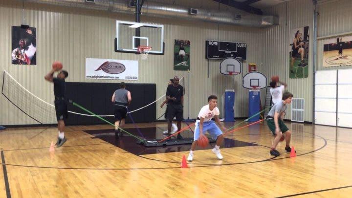 Rutina para jugadores de baloncesto