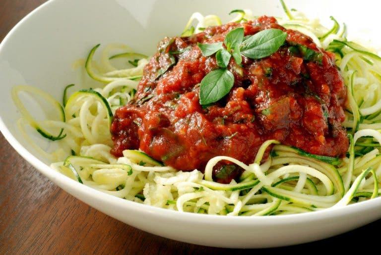Recetas de espaguetis vegetales