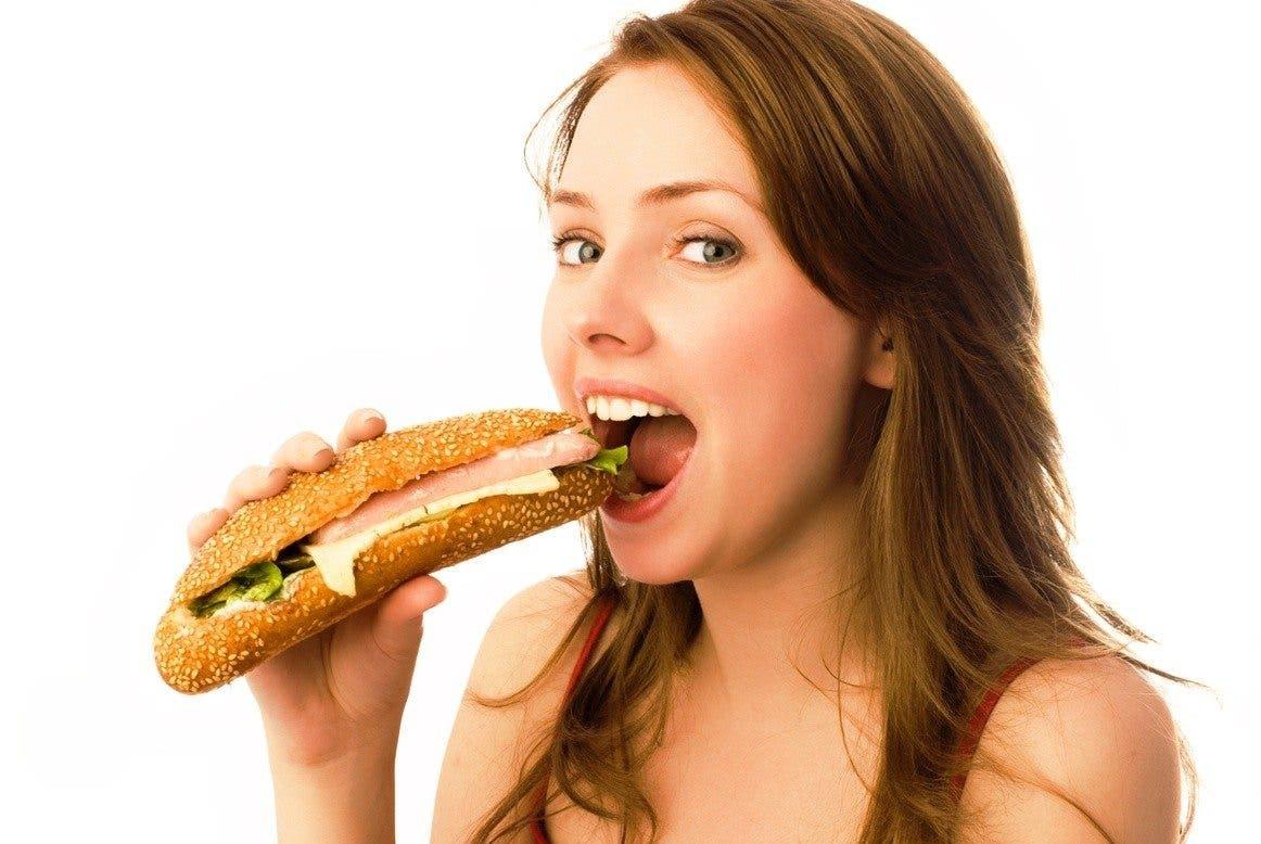 sensational woman is eating hotdog and getting banged  348426