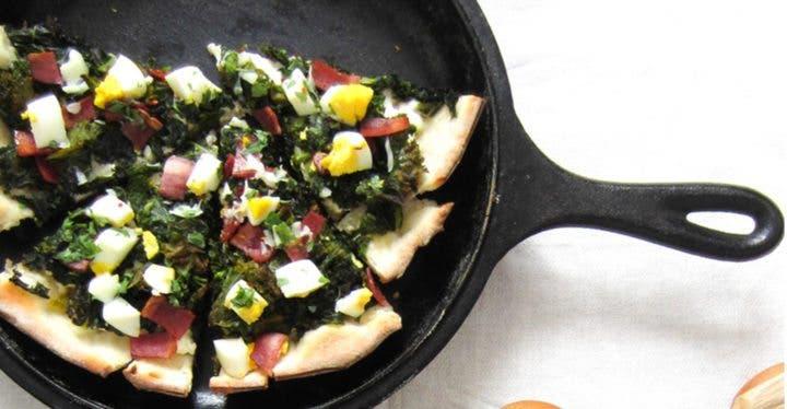 Pizza col rizada con ricotta
