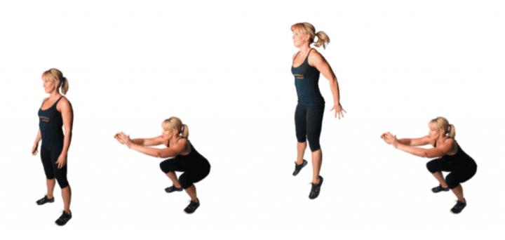 saltos laterales en entrenamiento hiit