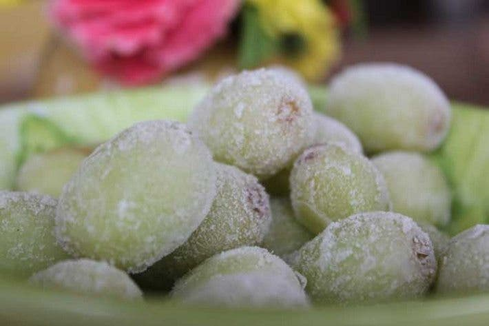 Las uvas congeladas son excelentes para calmar el apetito