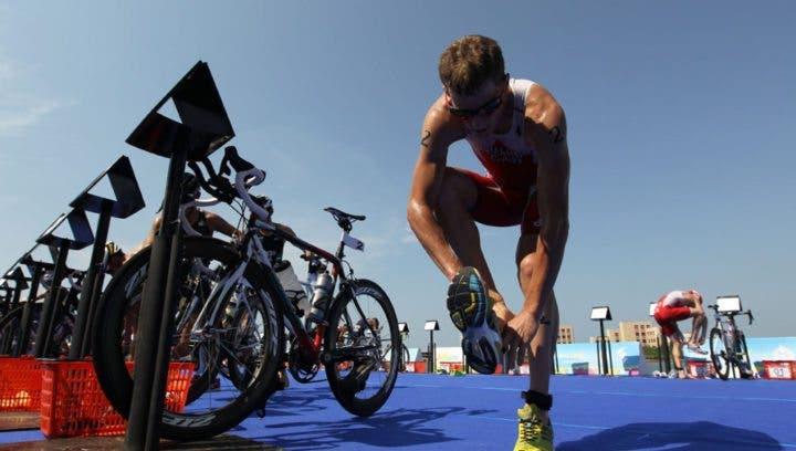 Transiciones en triatlón