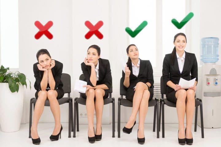 Postura correcta ante una entrevista de trabajo