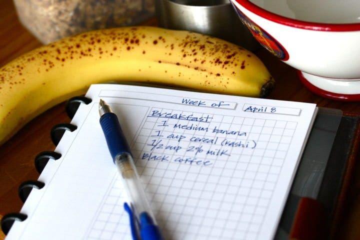 El error de registrar tus comidas con un diario
