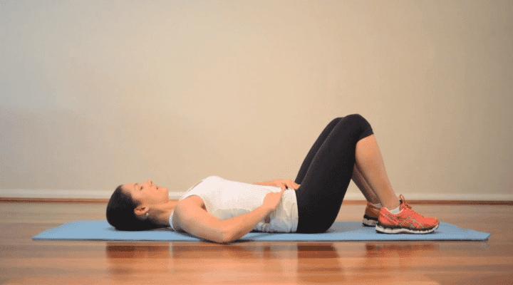 respiración vientre después del embarazo