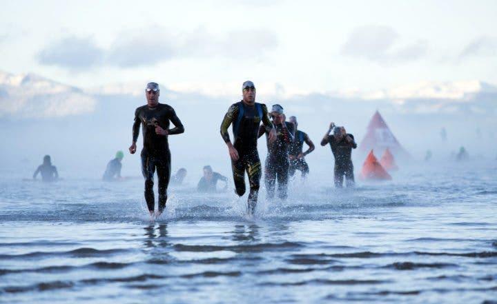 Tener éxito en la prueba de natación de un Ironman