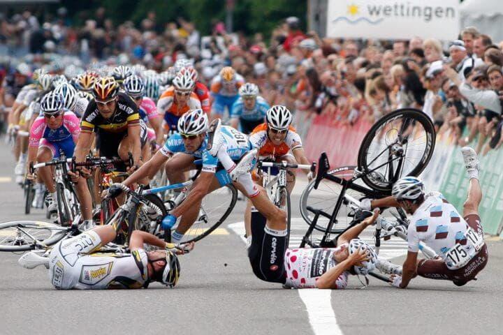 Contratiempos cuando se practica ciclismo en grupo