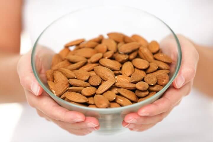 Contenido de vitamina E en las almendras