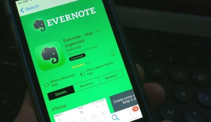"""Evernote para sustituir la aplicación """"Notes"""" de Apple"""