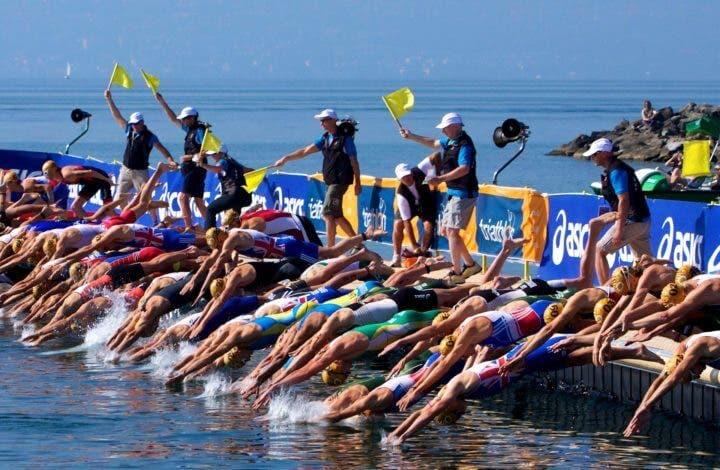 aprovechar la energía dentro de una carrera de aguas abiertas