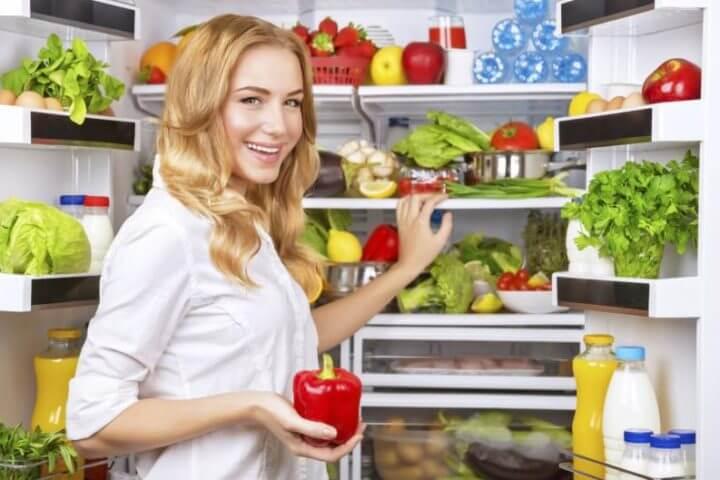 Ubicar los alimentos sanos a mano para perder peso