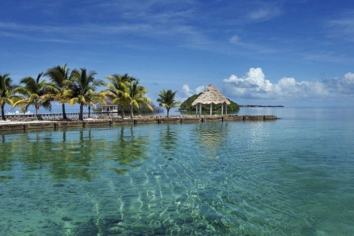 Hospedarse en la isla privada Royal Belize