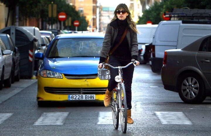 No alertes a los ciclistas a menos que sea necesario