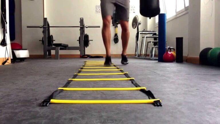 ejercicios con escalera de agilidad para perder grasa
