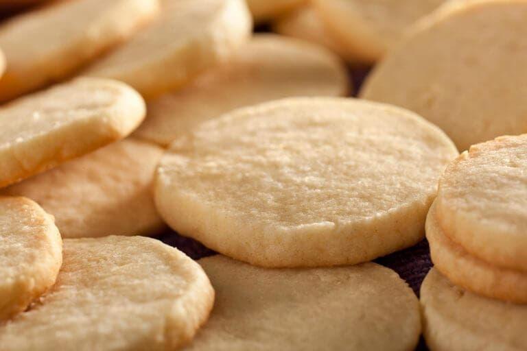 Galletas hechas de azúcar con pocas calorías