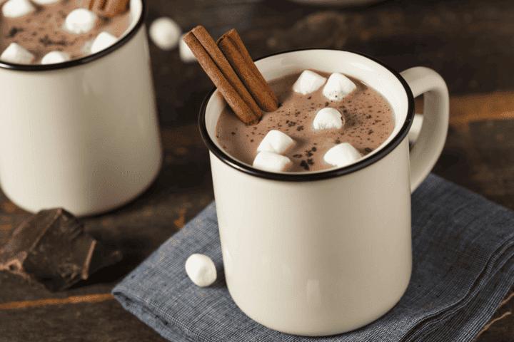 Versión saludable del chocolate caliente