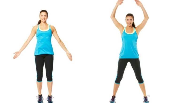 Salto de tijera modificado para evitar dolor en las rodillas