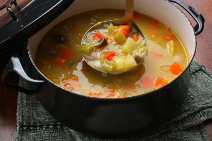 Kommer más sopa de verduras
