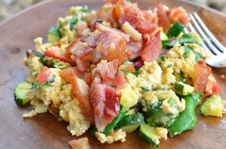 Kommer verduras con huevo
