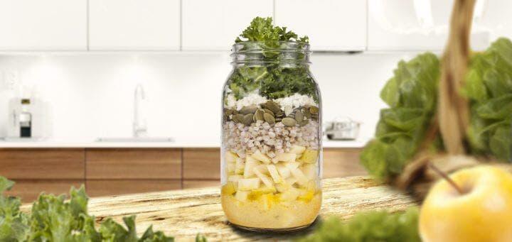 ¿Cómo elaborar una ensalada de coliflor en frasco?