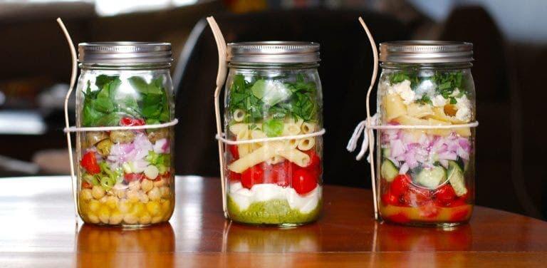 Las mejores ensaladas en frascos