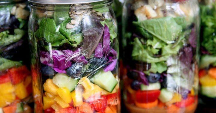 Las mejores recetas de ensaladas en Mason Jar
